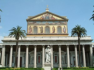 The Basilica of San Paolo fuori le Mura.