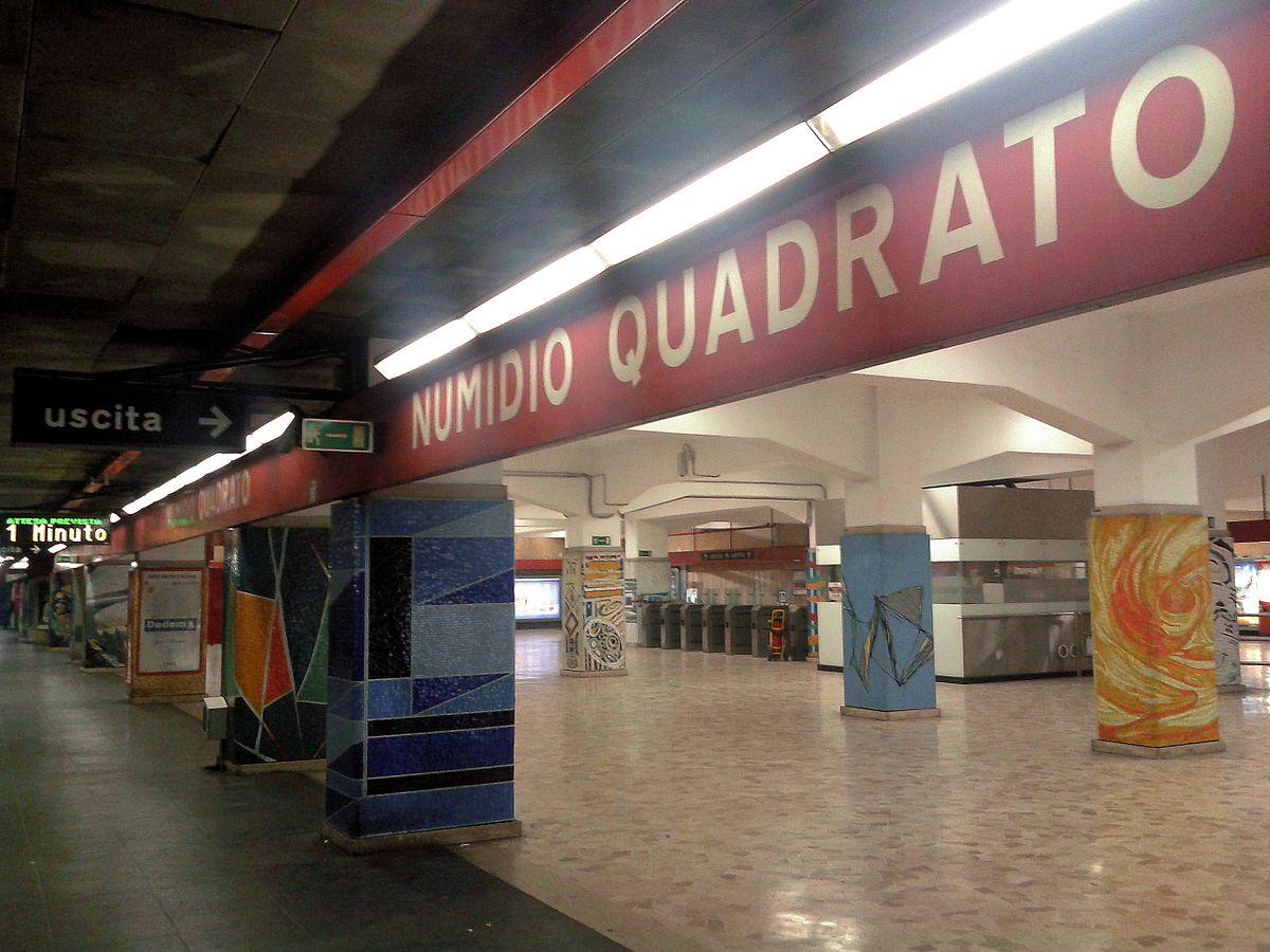 Numidio quadrato metropolitana di roma wikipedia - Metro porta furba roma ...