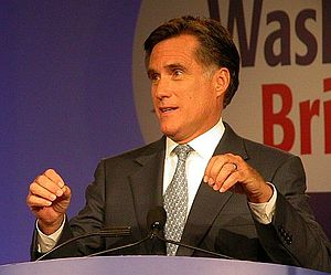 Mitt Romney presidential campaign, 2008 - Romney speaking in October 2007 before the Values Voter Summit in Washington, D.C..