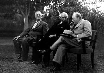 Roosevelt Inonu Churchill