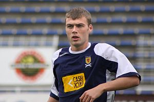 Rory Loy - Loy, pictured in 2009, with the Scotland national under-21 football team.