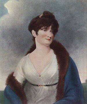 John James Masquerier - Rosemond Wilkinson (a.k.a. Mrs Rosemond Mountain) actress. An engraving after Masquerier