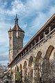 Rothenburg ob der Tauber, Stadtbefestiigung, Klingentorturm, Stadtmauer-20160108-001.jpg