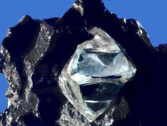 Carbon - Raw diamond crystal