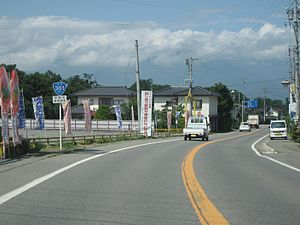 Japan National Route 361 - Image: Route 361 ina city