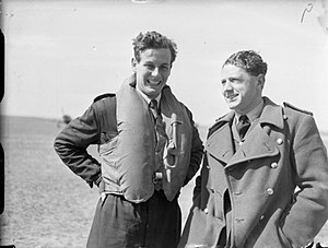 Peter Townsend (RAF officer) - Flight Lieutenant Townsend (left) with Flight Lieutenant Caesar Hull in 1940
