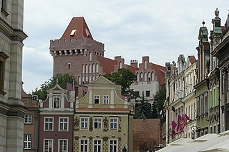 Royal Castle, Poznań - The castle seen from Old Town