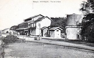 Rufisque - Rufisque train station, 1910.