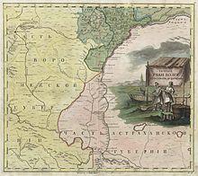 Атлас Российской империи (1745).  Течение реки Волги от Самары до Царицына.  Первая подробная карта края.