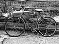 Rusty bicycle at Hatfield Broad Oak, Essex, England - Ilford HPS 800 conversion.jpg