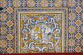 Sòcol de taulells de la sala Nova del palau de la Generalitat Valenciana, sant Jordi.jpg