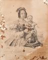 S.M.F. a Senhora D. Maria 2.ª e S.A.R. o Príncipe Herdeiro da Coroa Portug.ª (c. 1840) - Maurício José do Carmo Sendim.png