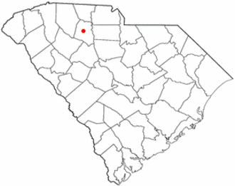 Union, South Carolina - Image: SC Map doton Union