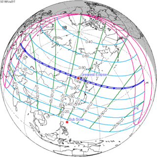 Solar eclipse of July 31, 1981