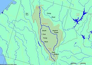 Hayfork Creek - Image: SF Trinity Map