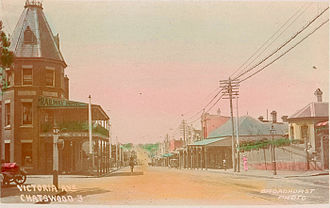 Chatswood, New South Wales - Victoria Avenue in 1900