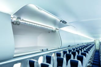 Interjet - Passenger cabin of an Interjet Sukhoi Superjet 100.