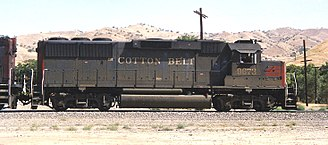 EMD GP60 - SSW (SP-owned) 9673 in Caliente, California