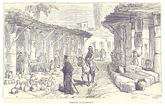 Larnaca - 1880 drawing of market in Larnaca
