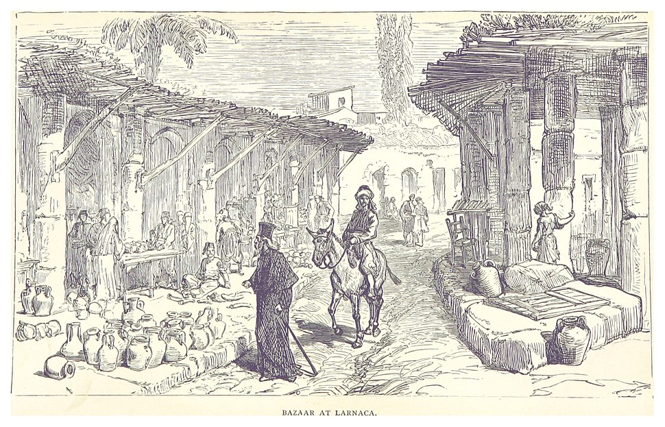 STEVENSON(1880) p046 BAZAAR AT LARNACA