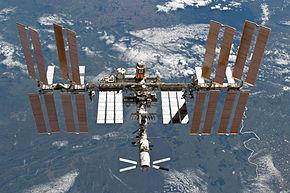 Die ISS, aufgenommen aus dem Space Shuttle