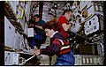 STS057-231-026 - STS-057 - Crewmembers at work in the SPACEHAB on various experiments. - DPLA - 45e72499e468106a1849885c486f42e2.jpg