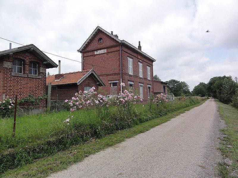 Saint-Algis (Aisne) Axe vert, ancienne gare