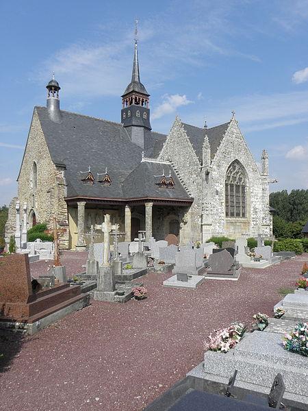 Église de Saint-Léry (56). Vue méridionale.