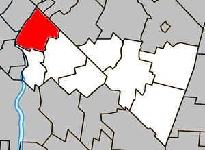 Saint-Mathias-sur-Richelieu - Image: Saint Mathias sur Richelieu Quebec location diagram
