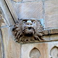 Saint Joseph Catholic Church (Springfield, Ohio) - lion head sculpture.JPG