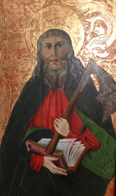 Saint Matthias, tempera on wood, Lesser Poland XV-XVI century.PNG