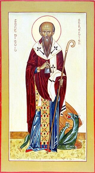 L'icône de saint Pol Aurélien peinte pour l'Association orthodoxe Sainte-Anne (Bretagne)