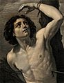 Saint Sebastian. Engraving by F. Gregori, 1756, after G. Ren Wellcome V0033059.jpg