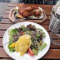 Salad and Czech roast pork knee.jpg