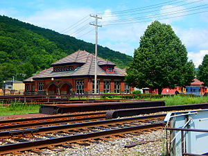 Salamanca (city), New York - Salamanca station for the Buffalo, Rochester and Pittsburgh, now the Rail Museum