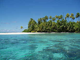 Chagos Archipelago - Salomon Atoll is one of the many above water features of the Chagos Archipelago