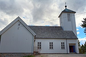 Salsbruket Chapel - Image: Salsbruket.Kapell.cl ose up