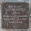 Salzburg - Lehen - Thomas-Bernhard-Straße - Stolperstein Johann Reiter.jpg