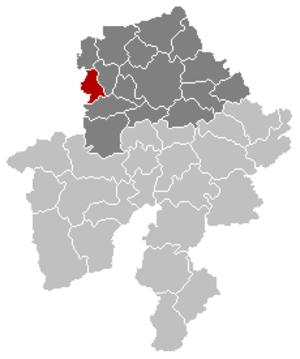 Sambreville - Image: Sambreville Namur Belgium Map