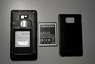 Samsung Galaxy S II - Image: Samsung Galaxy S 2 and its removable parts