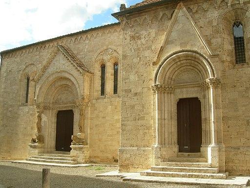 Portali laterali della Collegiata di San Quirico d'Orcia