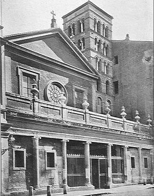 San Lorenzo in Lucina - Facade of San Lorenzo in Lucina in 1911