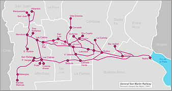 Rail Transport In Argentina Wikipedia - Argentine railway map