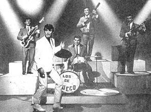 Argentine rock - Sandro y Los del Fuego in 1961.