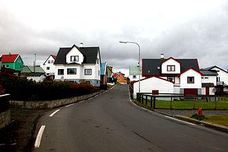 Sandur, Faroe Islands - Image: Sandur village street