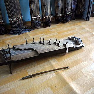 Ajaeng Korean string instrument of the zither family