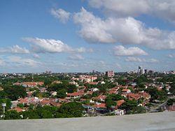 Vista panoramica de la ciudad de Santa Cruz de la Sierra principal ciudad del departamento de Santa Cruz