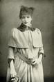 Sarah Bernhardt in travelling costume, 1880.png