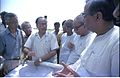 Saroj Ghose Explaining Science City Project To Prasanta Chatterjee - Meeting Between CMC And NCSM Officers - Science City Site - Dhapa - Calcutta 1993-04-22 0567.JPG