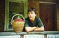 Sasha with basket of fruit in 2002 (4098623579).jpg